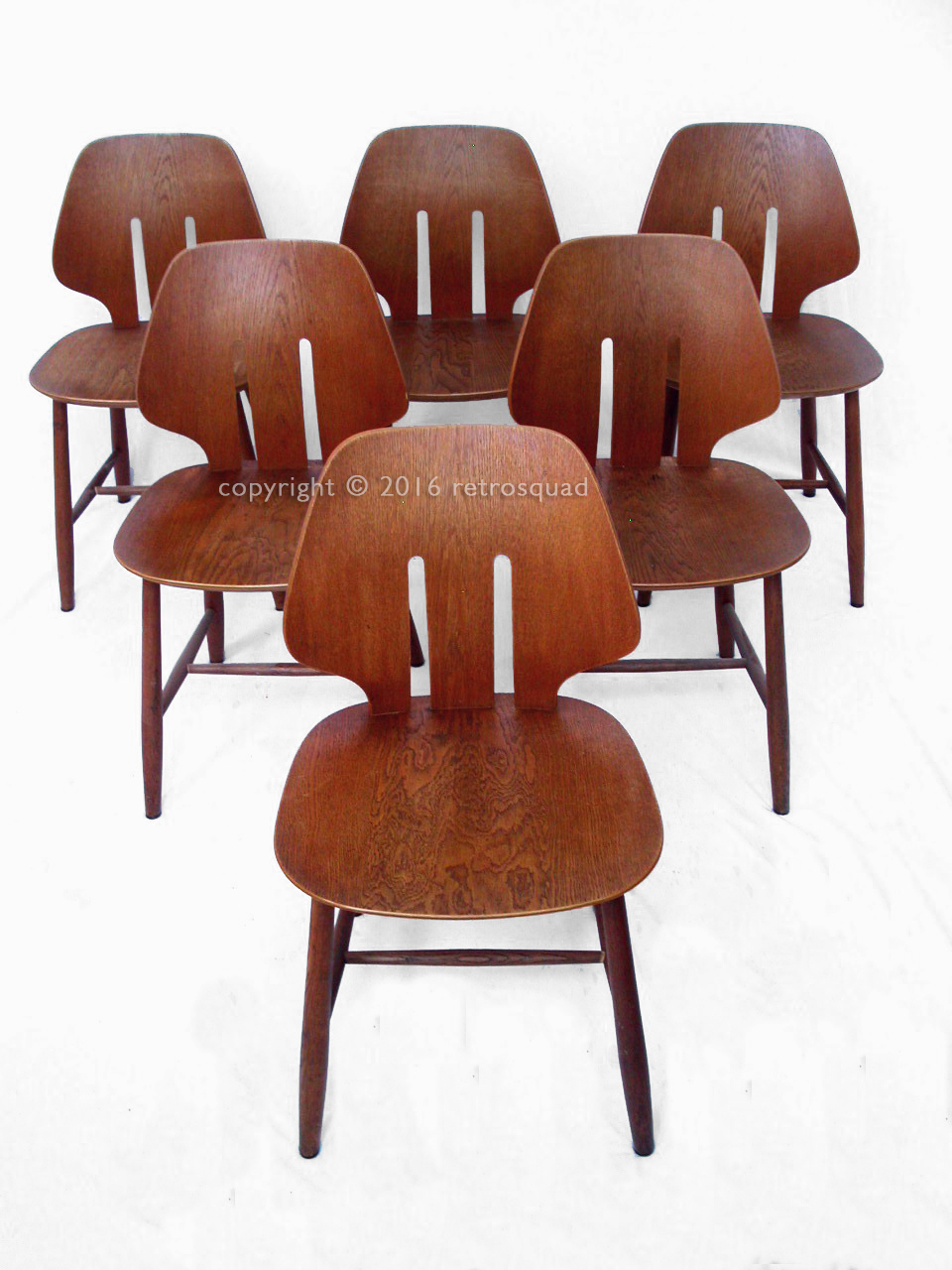 6 Modern Dining Chairs By Ejvind A. Johanss For FDB Mobler Vintage 1960 04