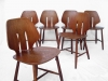 6 Modern Dining Chairs By Ejvind A. Johanss For FDB Mobler Vintage 1960 09